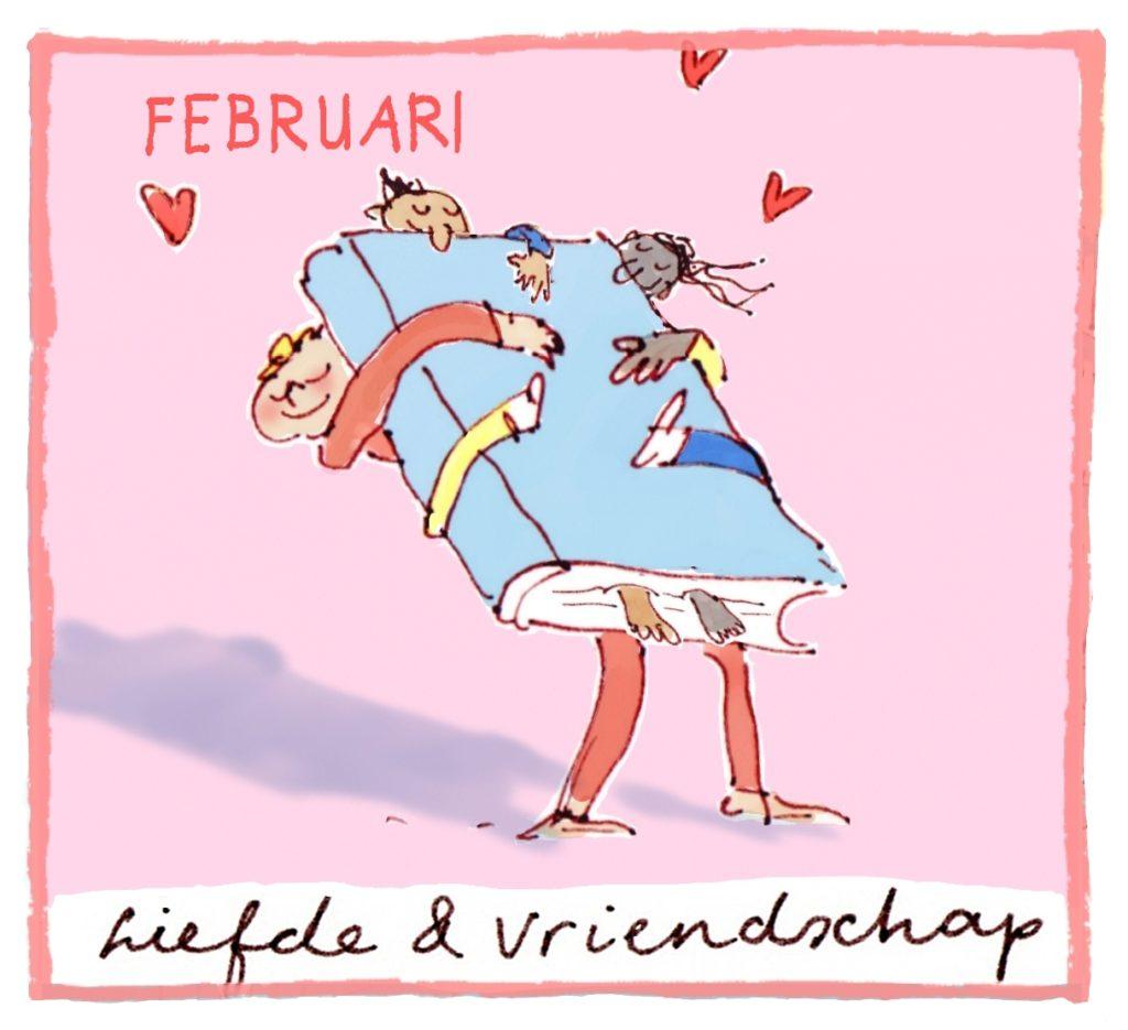 Het thema van Februari is: liefde en vriendschap.