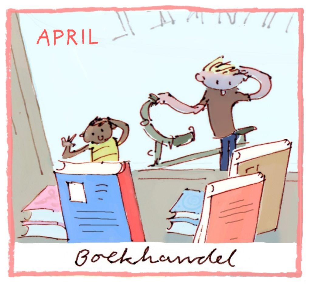 Het thema van april is boekhandel.