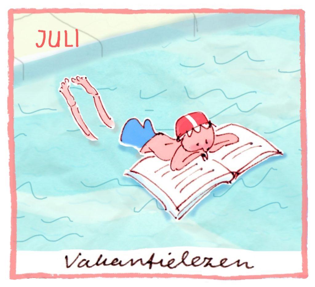 Het thema van juli is: vakantielezen!