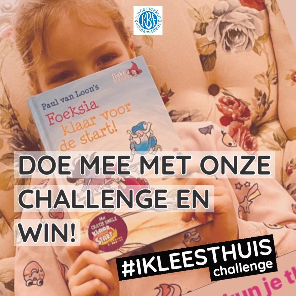 Doe mee met onze ikleesthuischallenge en win boeken!  📷: Op de foto staat Isabel (7,5 jaar), © Stichting Lezen