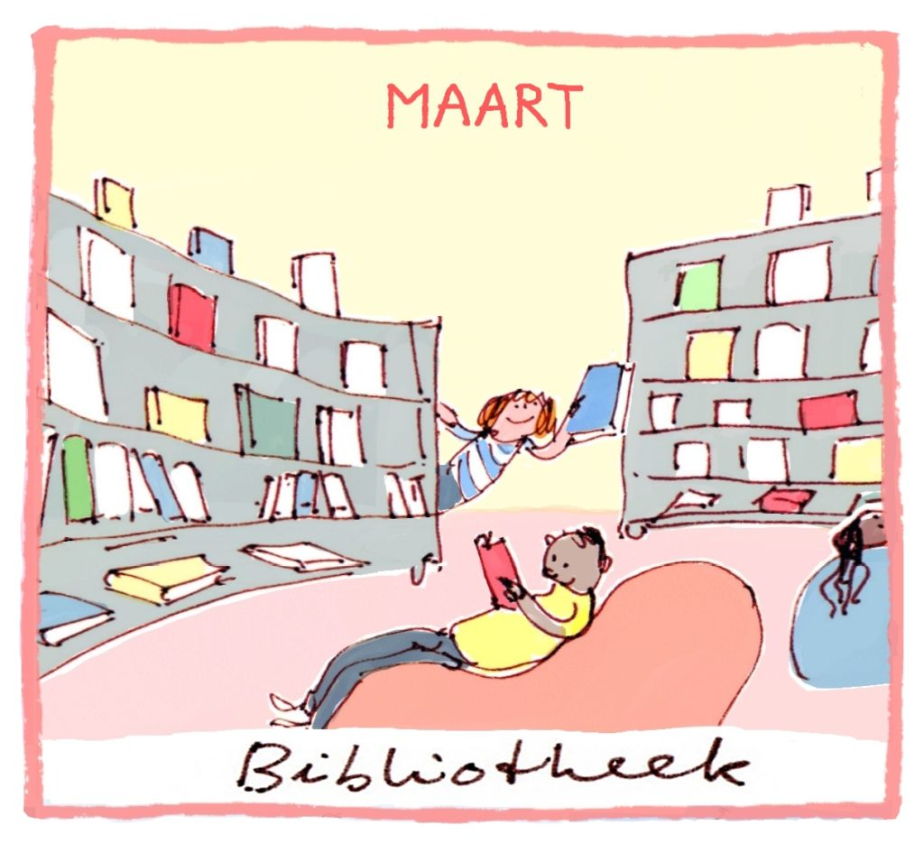 Het thema van maart is Bibliotheek